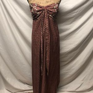 Attention strapless maxi dress size XL